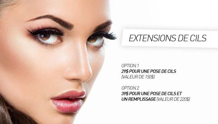 Coupon rabais partir de 29 pour une extension de cils avec option de remplissage valeur - Salon 3d extension de cils ...