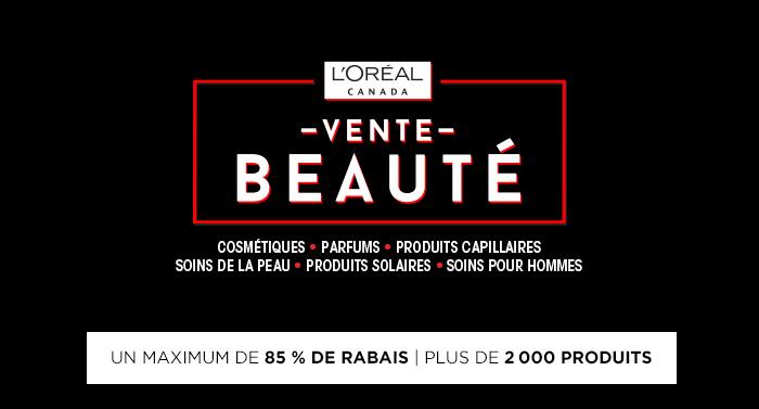 Vente L'Oreal Canada - MTL a Rabais